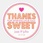 Gracias por hacer nuestro dulce del día (rosa fuer etiquetas