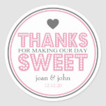 Gracias por hacer nuestro dulce del día (rosa/gris