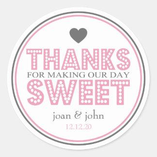 Gracias por hacer nuestro dulce del día rosa gris