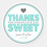 Gracias por hacer nuestro dulce del día (trullo/gr etiqueta redonda