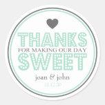 Gracias por hacer nuestro dulce del día (verde/gri