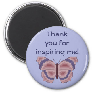 ¡Gracias por inspirarme! Imán de la mariposa
