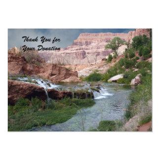 """Gracias por la donación, cascadas Unspoiled Invitación 5"""" X 7"""""""