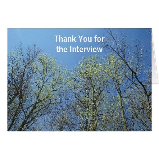 Gracias por la entrevista tarjeta pequeña
