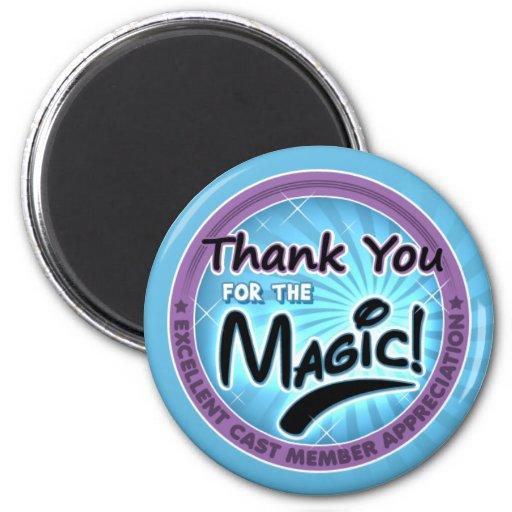 Gracias por la magia - aprecio del miembro del iman de nevera