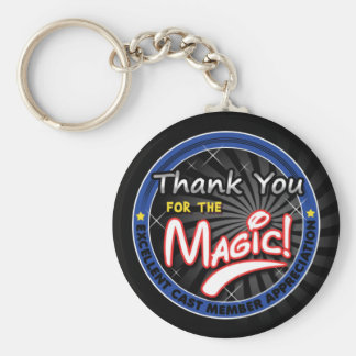 Gracias por la magia - aprecio del miembro del llavero redondo tipo pin