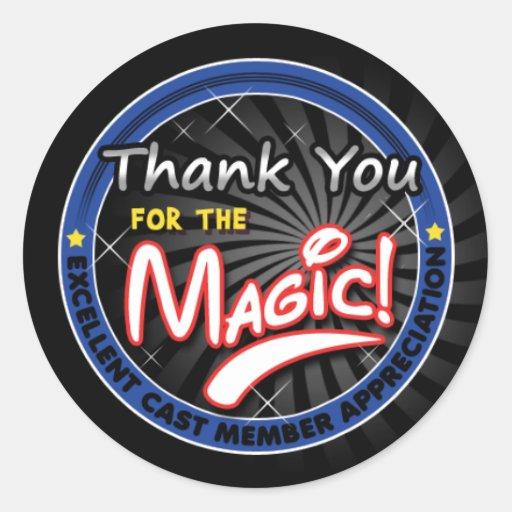 Gracias por la magia - aprecio del miembro del etiqueta redonda