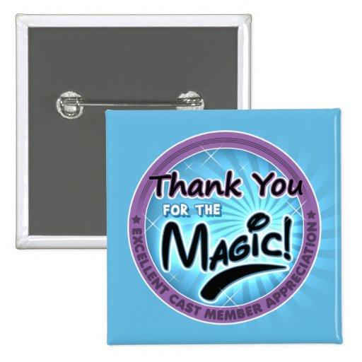 Gracias por la magia - aprecio del miembro del rep pins