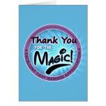 Gracias por la magia - aprecio del miembro del rep tarjetón