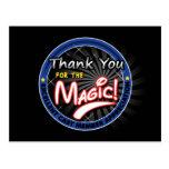 Gracias por la magia - aprecio del miembro del rep tarjetas postales
