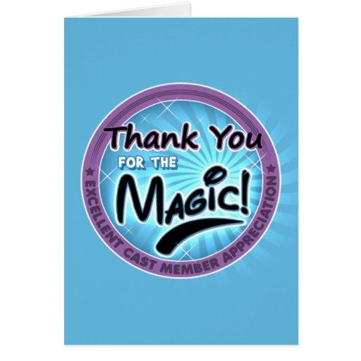 Gracias por la magia - aprecio del miembro del tarjetón