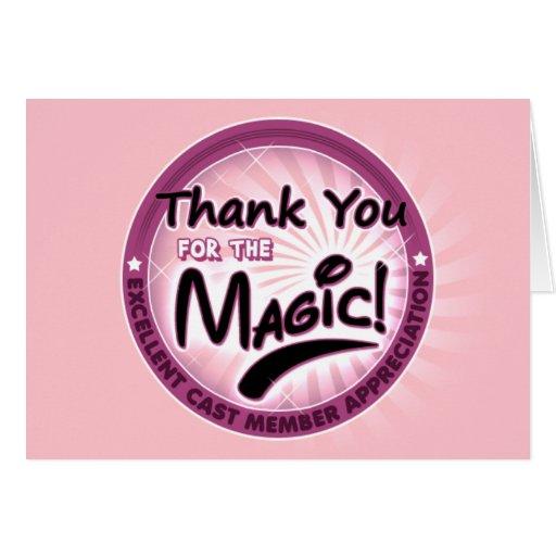 Gracias por la magia - aprecio del miembro del tarjeta de felicitación