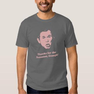 ¡Gracias por la recesión, Georgie! (4 camisetas Poleras