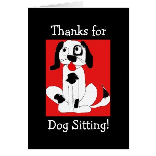 Gracias por la sentada del perro tarjetón