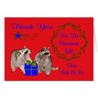 Gracias por la tarjeta de felicitación del regalo