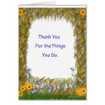 Gracias por las cosas que usted hace tarjeton
