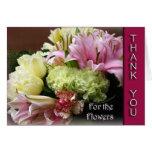 Gracias por las flores - florezca la tarjeta del r