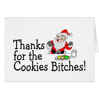 Gracias por las galletas tarjeta