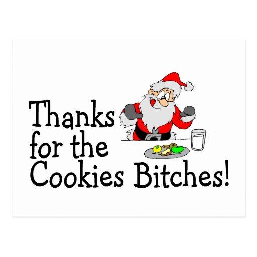 Gracias por las galletas tarjeta postal
