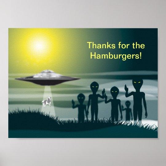 Gracias por las hamburguesas póster