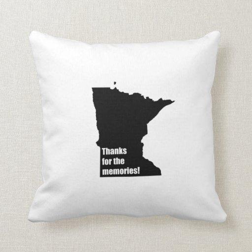 Gracias por las memorias Minnesota Cojines