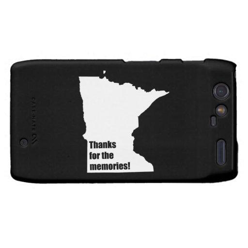 Gracias por las memorias Minnesota Motorola Droid RAZR Carcasa