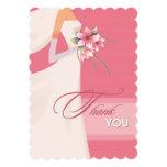 Gracias por las tarjetas de regalo nupciales de la invitación personalizada