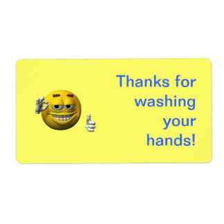 Gracias por lavarse las manos etiquetas de envío