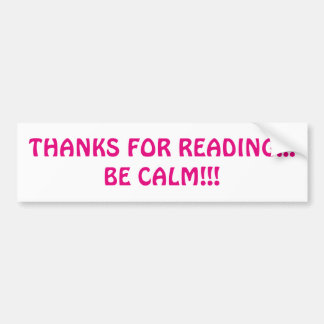 Gracias por leer… ¡Sea tranquilo!!! Pegatina para Pegatina Para Coche