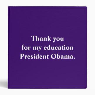 """Gracias por mi presidente Obama. de la educación Carpeta 1 1/2"""""""