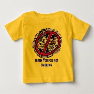 Gracias por no fumar la camiseta infantil