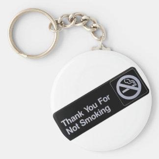 Gracias por no fumar llavero redondo tipo pin