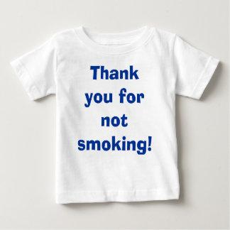 Gracias por no fumar playera de bebé
