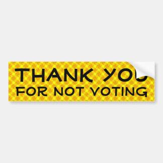 Gracias por no votar pegatina de parachoque