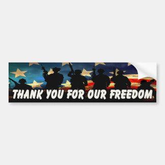 Gracias por nuestra libertad 2 pegatina para auto
