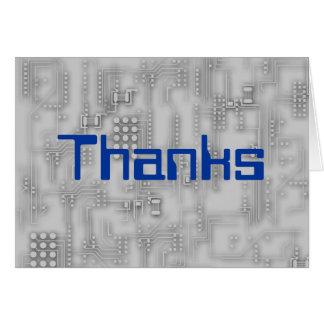 Gracias por ordenador de fijación tarjeta de felicitación