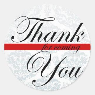 Gracias por pegatina rojo que viene