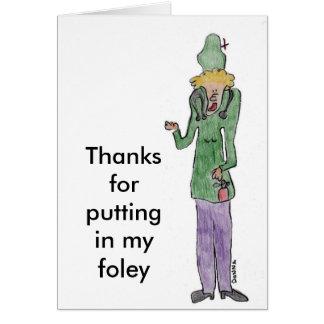 Gracias por poner en mi foley tarjeta de felicitación