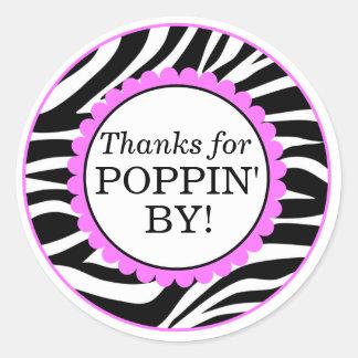 Gracias por Poppin cerca, fiesta de bienvenida al Pegatina Redonda