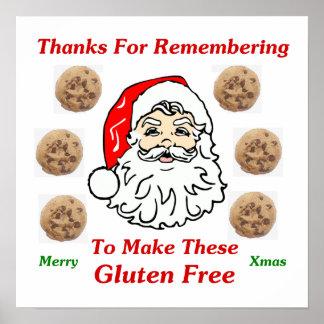 Gracias por Remebering para hacer éstos el gluten  Póster
