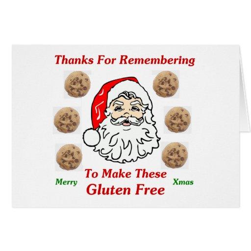Gracias por Remebering para hacer éstos el gluten  Tarjeta Pequeña
