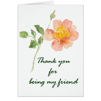 Gracias por ser mi amigo tarjeta