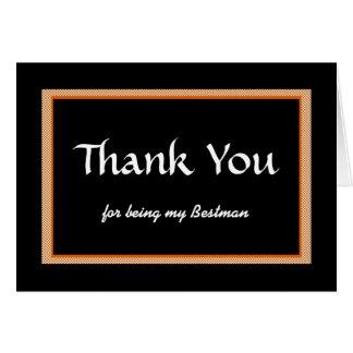 Gracias, por ser mi Bestman Felicitacion