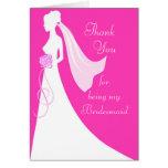 Gracias por ser mi dama de honor - rosa tarjeton