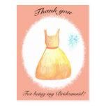 Gracias por ser mi dama de honor tarjetas postales