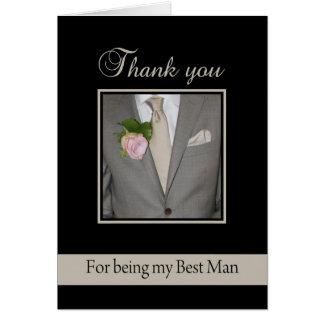 Gracias por ser mi mejor hombre tarjeta de felicitación