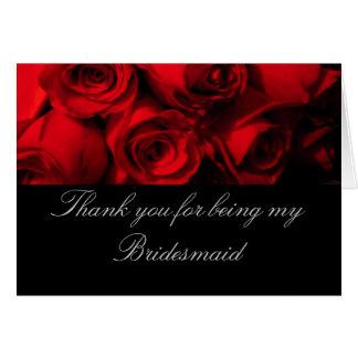 """""""Gracias por ser mi rosa rojo Bou de la dama de Tarjeta De Felicitación"""