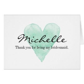 Gracias por ser mis tarjetas de la dama de honor