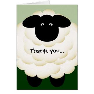Gracias por ser tarjeta de nota de la oveja