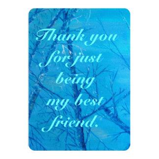 """Gracias por ser un amigo invitación 5"""" x 7"""""""